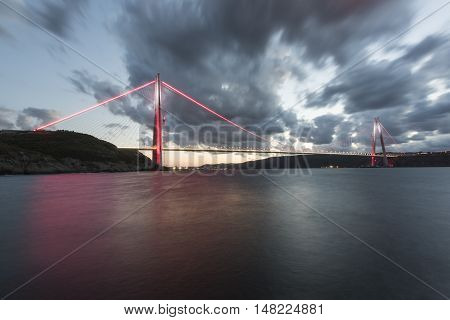 new bridge of Istanbul bosphorus, named Yavuz Sultan Selim