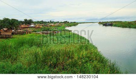 Lukuga River in Congo - in Africa