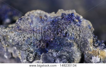 Blur mineral Plumosite Bournonite (Sulphide mineral of antimony and lead)