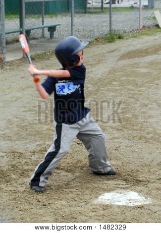 Little League Baseball Practice
