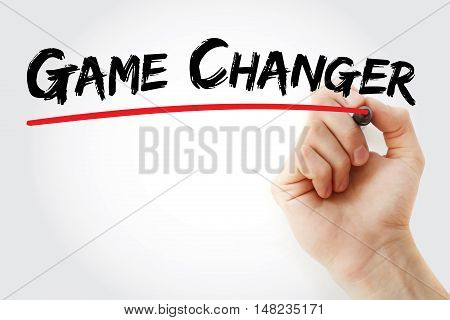 Hand Writing Game Changer With Marker