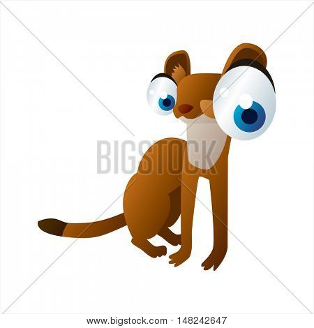 vector cool image of animal. Funny happy Stout