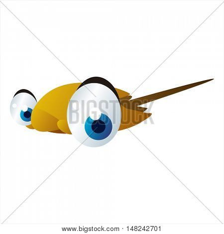 vector cool image of animal. Funny happy Stingray