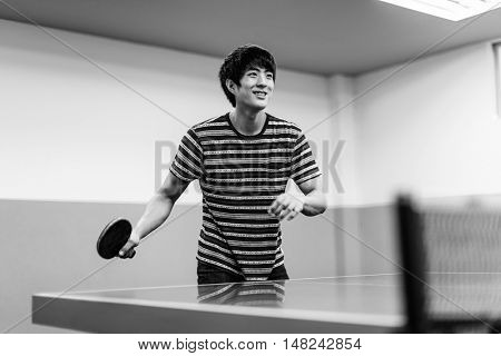 Table Tennis Ping-Pong Sport Activity Concept