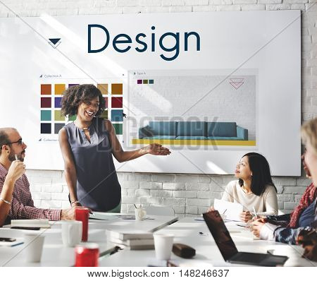 Design Choose Color Palette Graphic Concept