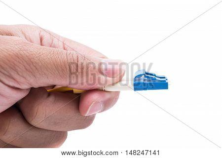 Hand Hold Plug Fiber Optic Cables Single Mode Lc