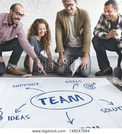 Team Support Ideas Business Concept