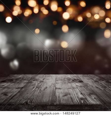 Background with lights for solemn concepts with bokeh