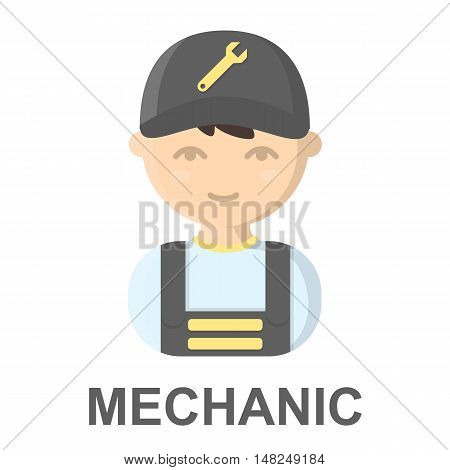 Mechanic cartoon icon. Illustration for web and mobile.