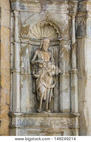 Statue Of Saint John The Baptist, Coimbra, Portugal