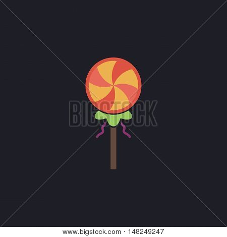 Candy Color vector icon on dark background