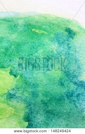 Macro Green with Blue Watercolour Textures 4