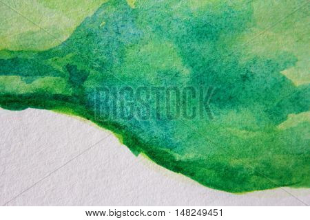 Macro Green with Blue Watercolour Textures 10