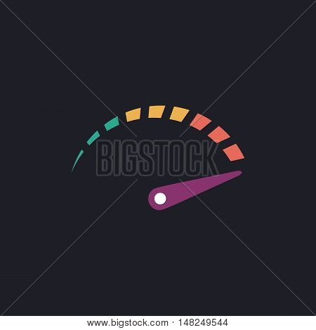 indicator Color vector icon on dark background