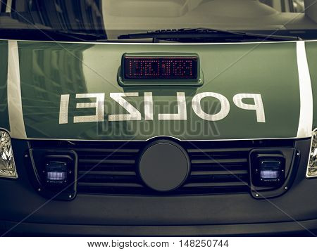 Vintage Looking German Police Car
