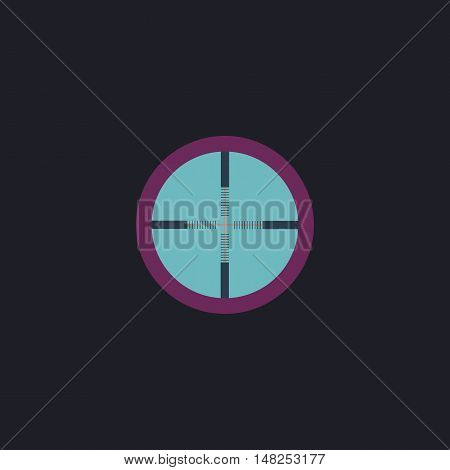 Crosshair Color vector icon on dark background