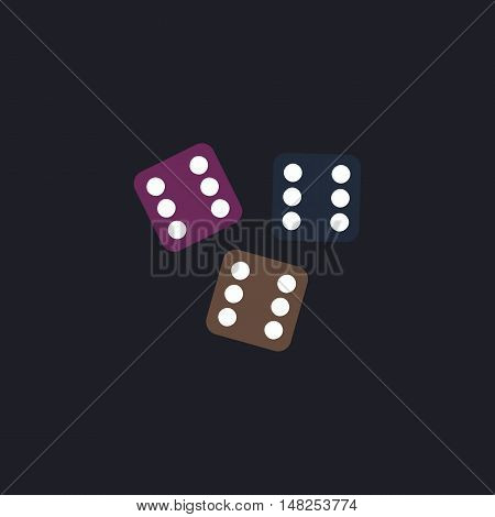 Lucky Color vector icon on dark background