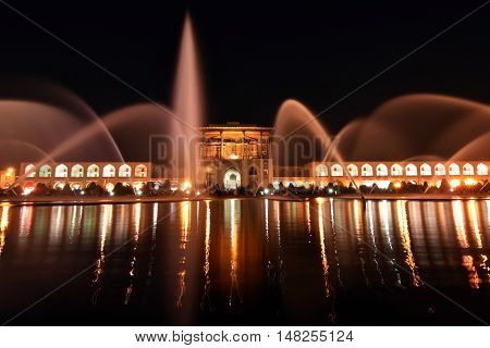 Naqsh-e Jahan Square Bazaar at night,Esfahan, Iran