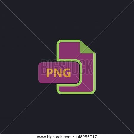 PNG Color vector icon on dark background