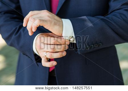 Close-up Of Elegance Male Hands