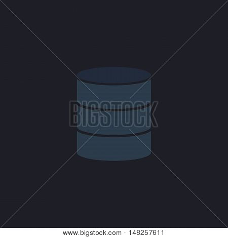 Database Color vector icon on dark background