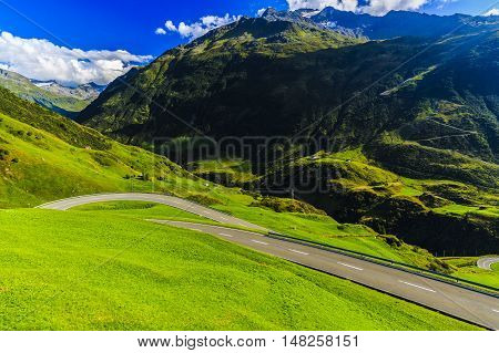 Wonderful Landscape In The Alps, Switzerland