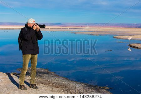 Photographer at Atacama in Chile
