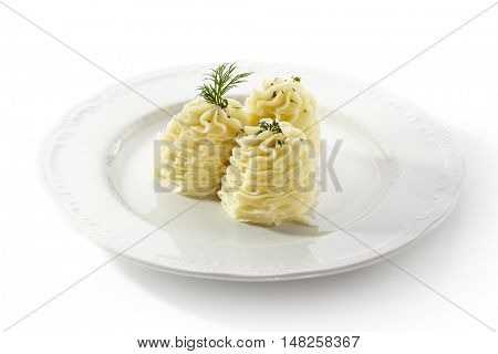 Mashed Potatoes topped with Dill