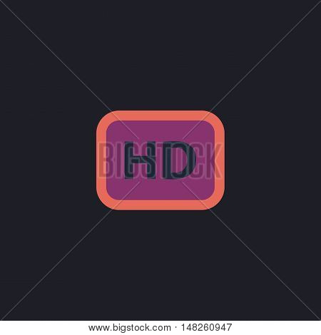 HD Color vector icon on dark background