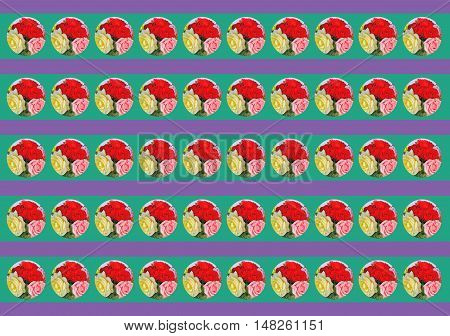 Circles with flowers on different background 4