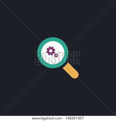 Business Analysis Color vector icon on dark background