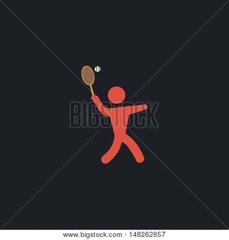 tennis Color vector icon on dark background