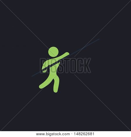 Pole vault Color vector icon on dark background