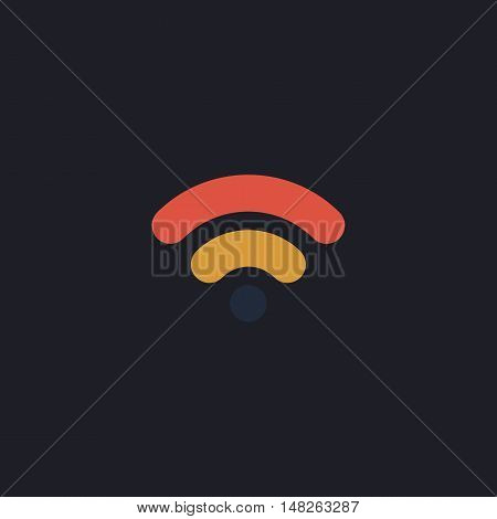 Wifi signal Color vector icon on dark background