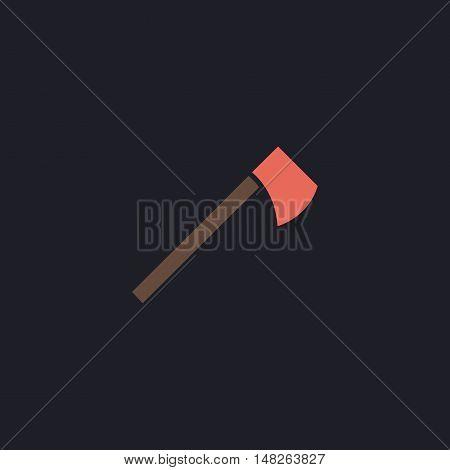 hatchet Color vector icon on dark background