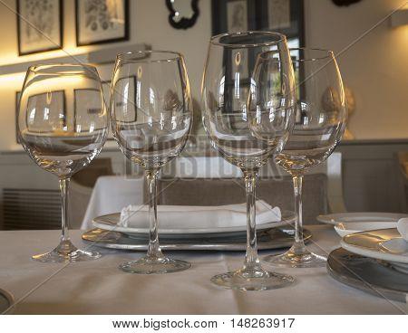 stylish luxury decoration table before the celebration