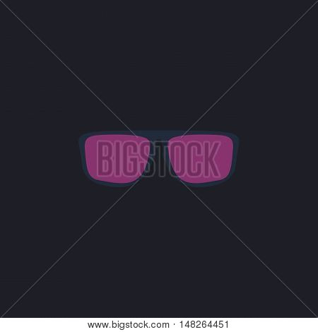 Glasses Color vector icon on dark background