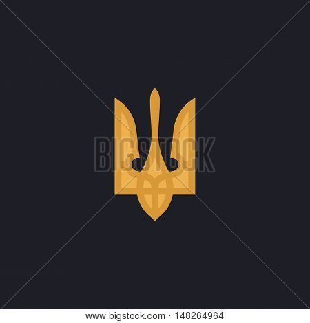 Trident Color vector icon on dark background