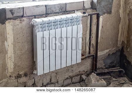 Heating system - radiator battery and pipes during repair
