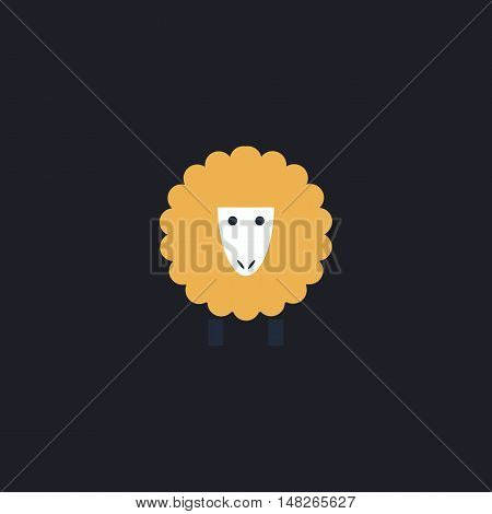 Sheep Color vector icon on dark background