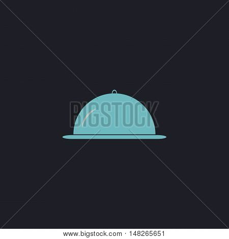 cloche Color vector icon on dark background