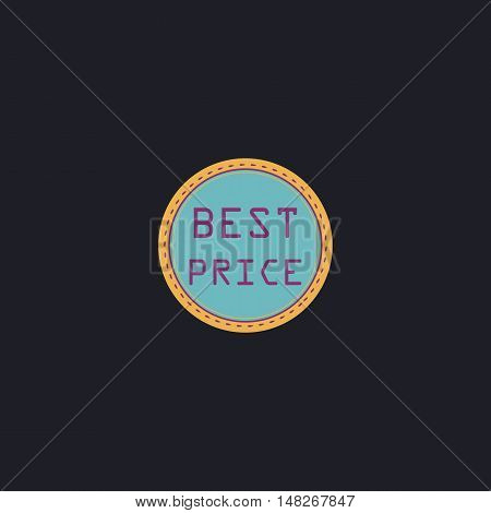 Best Price Color vector icon on dark background