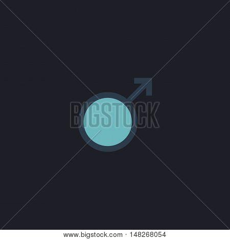 man sex Color vector icon on dark background