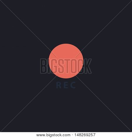 Rec Color vector icon on dark background