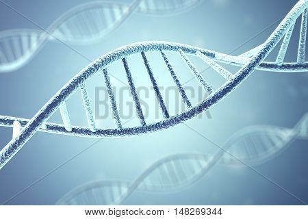 Concept of biochemistry with dna molecule. 3d rendering.