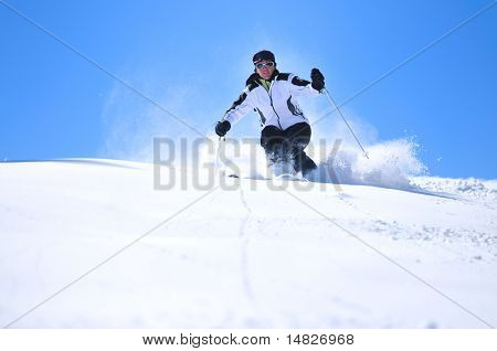 winter woman  ski  sport  fun  travel  snow