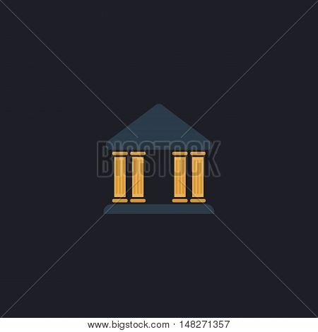 Justice court Color vector icon on dark background