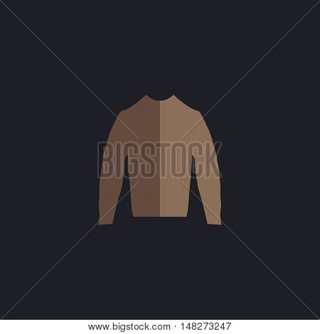 sweater Color vector icon on dark background