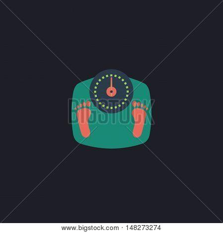 Bathroom scale Color vector icon on dark background