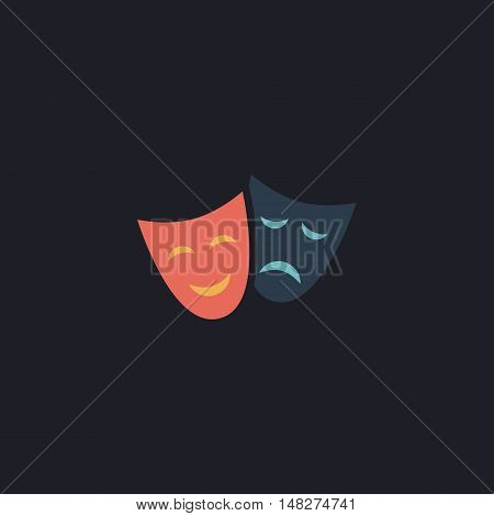 masks Color vector icon on dark background